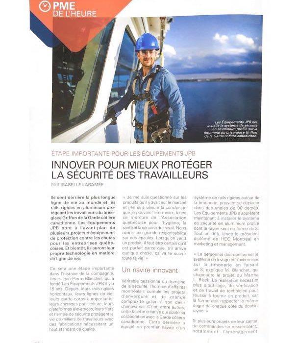 Innover pour mieux protéger la sécurité des travailleurs - 1