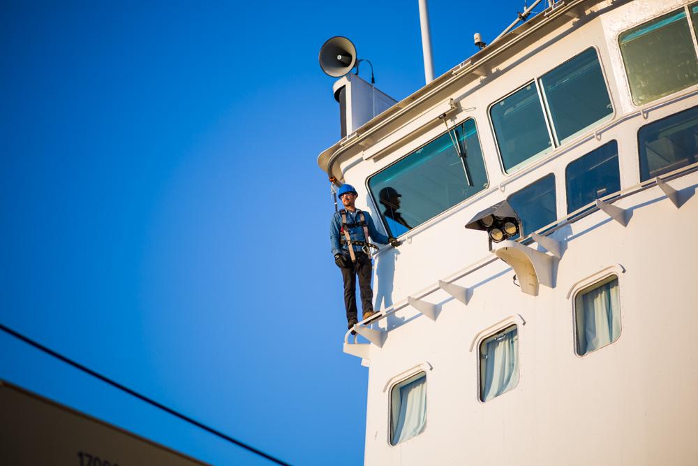 Système de protection contre les chutes pour la Garde côtière canandienne