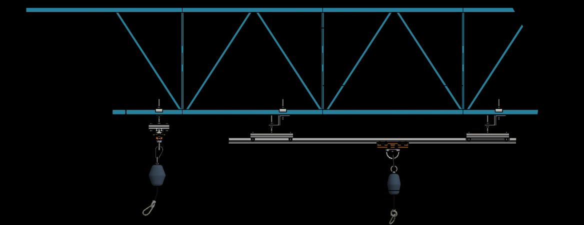 Obtenir un devis - Diagramme rail rigide vue latéralle